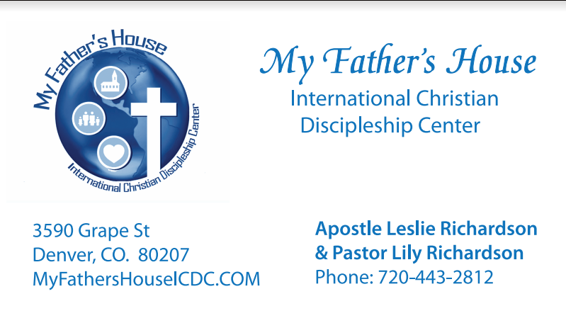 Business Cards Order My Fathers House Icdc